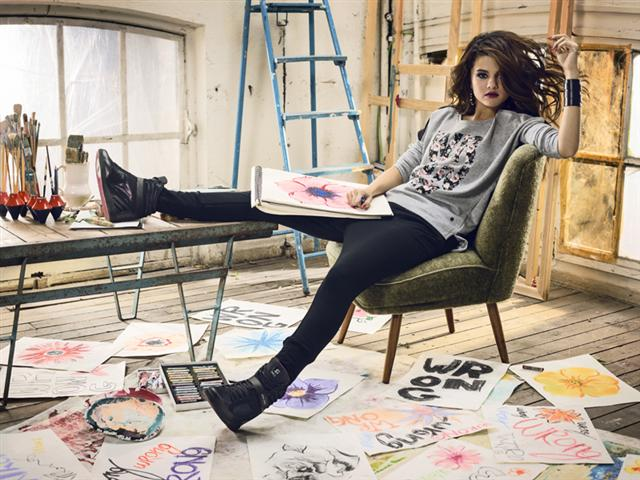 Selena Gomez Goes  quot Rockstar Rebel quot  for Latest adidas NEO ... 24820f28a3b3